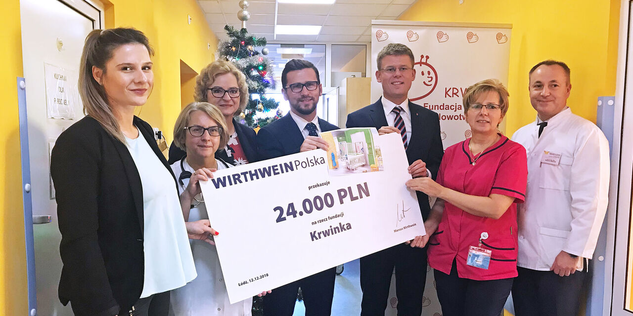 Spende an Kinderklinik in Lodz, Polen