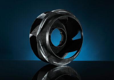 Kunststoff- Lüfterrad für die Luft- und Klimatechnik