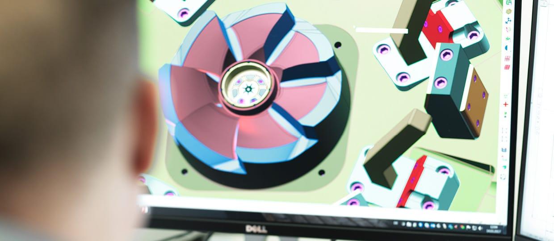 PC zeigt 3D Grafik