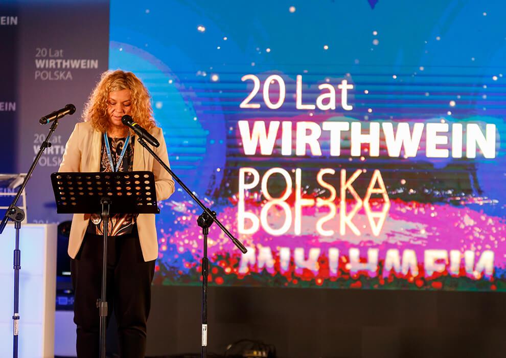 Sängerin auf der Bühne, Lodz Polen