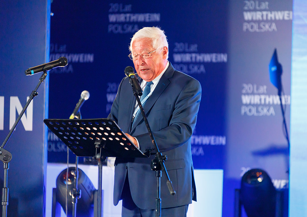 Udo Wirthwein auf der Bühne in Lodz, Polen